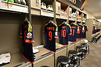 Santa Clara, CA - Friday June 03, 2016: Colombia locker room prior to Copa America Centenario Group A match between United States (USA) and Colombia (COL) at Levi's Stadium.