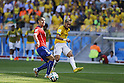 (L-R) Francisco Silva (CHI), Neymar (BRA), JUNE 28, 2014 - Football / Soccer : FIFA World Cup Brazil 2014 round of 16 match between Brazil and Chile at the Mineirao Stadium in Belo Horizonte, Brazil. (Photo by AFLO)