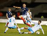 05.09.2019 Scotland u-21 v San Marino, European u-21 Championship 2021 Qualifying Round: Allan Campbell with Federico Dolcini and Diego Moretti