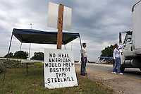 Arcelor Mittal Plant Closure Protest in Hennepin, Illinois (USA)