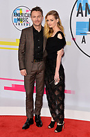 Lydia Hearst &amp; Chris Hardwick at the 2017 American Music Awards at the Microsoft Theatre LA Live, Los Angeles, USA 19 Nov. 2017<br /> Picture: Paul Smith/Featureflash/SilverHub 0208 004 5359 sales@silverhubmedia.com