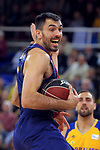 League ACB-ENDESA 2017/2018 - Game: 12.<br /> FC Barcelona Lassa vs Herbalife Gran Canaria: 77-88.<br /> Pierre Oriola.