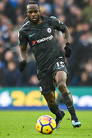 Victor Moses of Chelsea (15)  during the Premier League match between Brighton and Hove Albion and Chelsea at the American Express Community Stadium, Brighton and Hove, England on 20 January 2018. Photo by Edward Thomas / PRiME Media Images.
