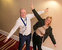 Flying high is NCBC Pesident Ian Roberts with guest speaker Karen Smart, Managing Director of East Midlands Airport