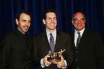 Executive producer of OLTL Frank Valentini receives the Linda Dano Heart Award and poses with Ron Carlivati and Brian Frons at the HeartShare Human Services 2009 Spring Gala and Auction on March 24, 2009 at the New York Marriott Marquis, New York City, NY. (Photos by Sue Coflin/Max Photos)