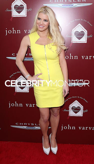 LOS ANGELES, CA, USA - APRIL 13: Jessica Simpson arrives at the 11th Annual John Varvatos Stuart House Benefit held at John Varvatos on April 13, 2014 in Los Angeles, California, United States. (Photo by David Acosta/Celebrity Monitor)