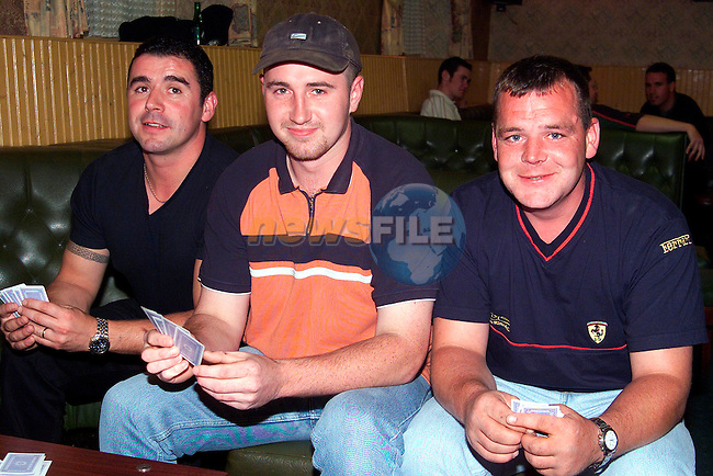 Jimmy Leech, Johnny Martin and Martin Healy at the Poker Classic in Big Toms, Duleek..Picture: Paul Mohan/Newsfile