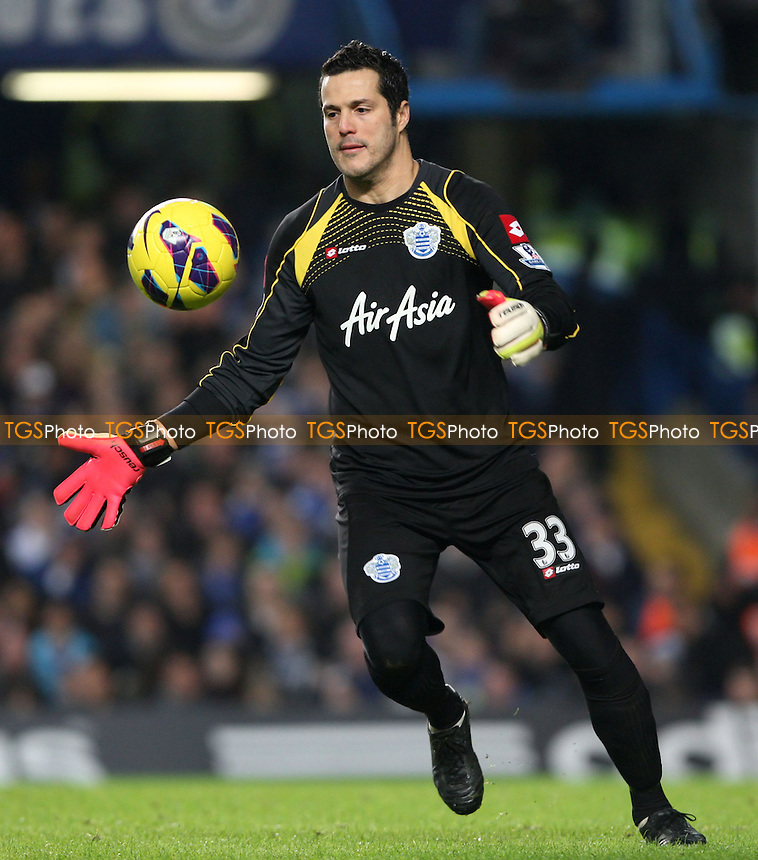 Julio Cesar of QPR - Chelsea vs Queens Park Rangers, Barclays Premier League at Stamford Bridge, Chelsea - 02/01/13 - MANDATORY CREDIT: Rob Newell/TGSPHOTO - Self billing applies where appropriate - 0845 094 6026 - contact@tgsphoto.co.uk - NO UNPAID USE.