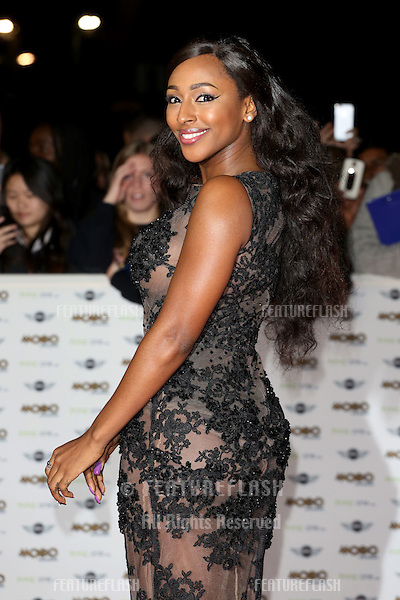 Alexandra Burke arriving for The MOBO Awards 2014 held at Wembley Arena, London. 22/10/2014 Picture by: James Smith / Featureflash