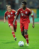 FUSSBALL   DFB POKAL   SAISON 2011/2012  1. Hauptrunde Eintracht Braunschweig - FC Bayern Muenchen   01.08.2011 David ALABA (FC Bayern Muenchen) Einzelaktion am Ball