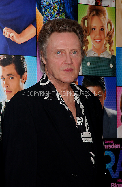 WWW.ACEPIXS.COM . . . . .....July 16, 2007. New York City.....Actor Christopher Walken arrives at the 'Hairspray' Premiere held at the held at the Ziegfeld Theater in New York City...  ....Please byline: Kristin Callahan - ACEPIXS.COM..... *** ***..Ace Pictures, Inc:  ..Philip Vaughan (646) 769 0430..e-mail: info@acepixs.com..web: http://www.acepixs.com