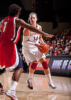 STANFORD, CA - December 12, 2010: Kayla Pedersen of the Stanford Cardinal women's basketball team during their victory over Fresno State. Stanford won 77-40.