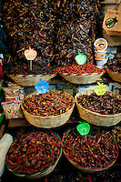 Chiles at the 20 de Noviembre food market in Oaxaca City, Oaxaca, Mexico