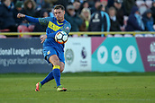 5th November 2017, Damson Park, Solihull, England; FA Cup first round, Solihull Moors versus Wycombe Wanderers; Liam Daly of Solihull Moors hits a long ball forward