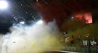 Calcio, Serie A: Lazio-Roma. Roma, stadio Olimpico, 16 ottobre 2011..Football, Italian serie A: Lazio vs AS Roma.  Rome, Olympic stadium, 16 october 2011..AS Roma fans..UPDATE IMAGES PRESS/Riccardo De Luca
