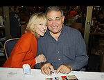 One Life To Live's Judith Light & Dan Lauria (both were on OLTL and now back together in Lombardi on Broadway) at Circle in the Square at the autograph table during The 24th Annual Broadway Flea Market & Grand Auction to benefit Broadway Cares/Equity Fight Aids on September 26, 2010 in Shubert Alley, New York City, New York. (Photo by Sue Coflin/Max Photos)