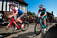 Picture by Alex Whitehead/SWpix.com - 13/05/2018 - British Cycling - HSBC UK Spring Cup Series - Lincoln Grand Prix - Tom Pidcock of Team Wiggins and Connor Swift of Madison Genesis.