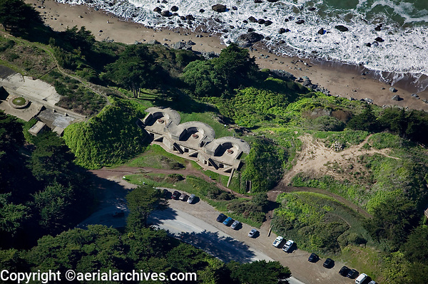 aerial photograph bunker San Francisco Presidio Golden Gate National Recreation Area GGNRA