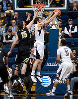 Robert Thurman of California rebounds the ball during the game against Colorado at Haas Pavilion in Berkeley, California on January 12th, 2012.   California defeated Colorado, 57-50.