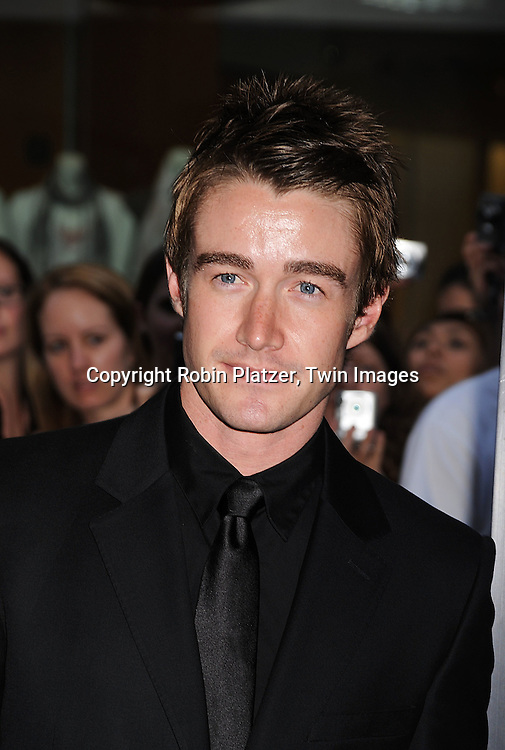 """actor Robert Buckley of """"Lipstick Jungle""""..posing at The World Premiere of """"The Dark Knight""""  on July 14, 2008 at The AMC Loews Lincoln Square in New York City.  The premiere was sponsered by VISA and Belstaff.....Robin Platzer, Twin Images"""
