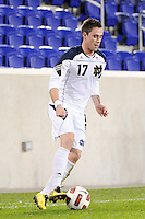 Brendan King (17) of the Notre Dame Fighting Irish. The Louisville Cardinals defeated the Notre Dame Fighting Irish 1-0 during the semi-finals of the Big East Men's Soccer Championship at Red Bull Arena in Harrison, NJ, on November 12, 2010.