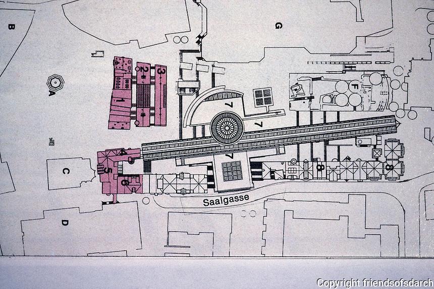 Frankfurt: Romerberg--Plan for New Romer. 1. Ostzelle, Rowhouses rebuilt on old plan.