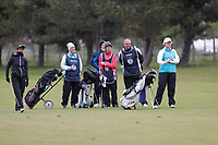 Rachel Finnis and Clare Balding admire the shot of Naga Munchetty during the Hero Pro-am at the Betfred British Masters, Hillside Golf Club, Lancashire, England. 08/05/2019.<br /> Picture David Kissman / Golffile.ie<br /> <br /> All photo usage must carry mandatory copyright credit (© Golffile | David Kissman)