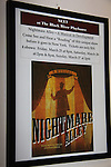 Poster of Nightmare Alley - a new musical - on March 27, 2011 at the Black River Playhouse, Chester, NJ. (Photo by Sue Coflin/Max Photos)