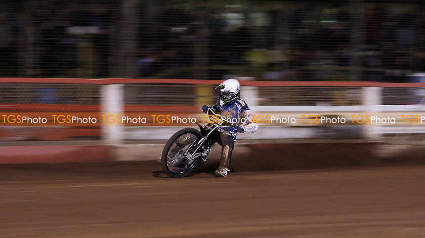 Chris Holder of Poole Pirates - Lakeside Hammers vs Poole Pirates, Elite League Speedway Play-Off Semi-Final 1st leg at the Arena Essex Raceway, Pufleet - 24/09/12 - MANDATORY CREDIT: Rob Newell/TGSPHOTO - Self billing applies where appropriate - 0845 094 6026 - contact@tgsphoto.co.uk - NO UNPAID USE.