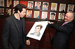 Andy Karl and Max Klimavicius during the Andy Karl Sardi's Portrait unveiling at Sardi's on May 31, 2017 in New York City.