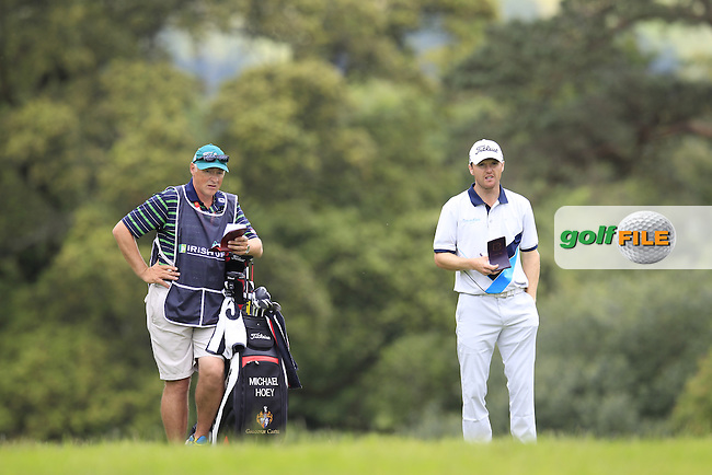 Michael Hoey (NIR) and caddy Gerry on the 14th hole during Sunday's Final Round of the 2014 Irish Open held at Fota Island Resort, Cork, Ireland. 22nd June 2014.<br /> Picture: Eoin Clarke www.golffile.ie
