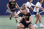 Maryland's Caroline Wannen (17) against Penn State on April 20, 2017. No. 1 Maryland defeated No. 5 Penn State 16-14.  Photo/Craig Houtz