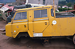 Spain 1990. Derelict spanish Land Rover Santana 1300 Forward Control. The spanish Santana 1300, built 1967-1978, were the equivalent to Land Rover's Series IIa/IIb Forward Control. --- No releases available. Automotive trademarks are the property of the trademark holder, authorization may be needed for some uses. --- Info: From the mid 1950's untill the early 1990's the english Land Rover was also built under license in Spain. The spanish company Metalurgica de Santa Ana (later to become Santana Motor SA), was producing Land Rovers in the beginning from CKD kits, but local content was gradually increased until the Santanas (this is how they were called) were 100 per cent locally manufactured.