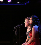 Tiffan Borelli and Jennifer Apple perform a preview of 'Something Funny's Going On!'  at 54 Below on October 23, 2013 in New York City.