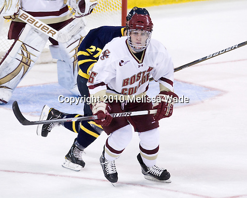 Patrick Wey (BC - 6) - The Boston College Eagles defeated the visiting Merrimack College Warriors 3-2 on Friday, October 29, 2010, at Conte Forum in Chestnut Hill, Massachusetts.