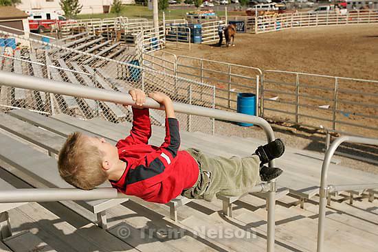 Nathaniel Nelson at rodeo<br />