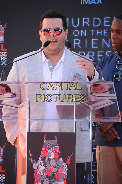26 October  2017 - Hollywood, California - Josh Gad. Kenneth Branagh Handprint-Footprint in Cement Ceremony held at TCL Chinese Theatre IMAX in Hollywood.  <br /> CAP/ADM/BT<br /> &copy;BT/ADM/Capital Pictures