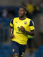 Shandon Baptiste of Oxford United during the The Leasing.com Trophy match between Oxford United and Norwich City U21 at the Kassam Stadium, Oxford, England on 3 September 2019. Photo by Andy Rowland.