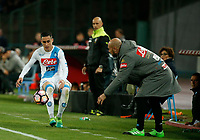 Jose Callejon  during the  italian serie a soccer match,between SSC Napoli and Juventus       at  the San  Paolo   stadium in Naples  Italy , April 02, 2017