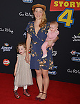 "Erika Christensen and family - kids 058 arrives at the premiere of Disney and Pixar's ""Toy Story 4"" on June 11, 2019 in Los Angeles, California."