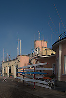 Varese. Lombardia. ITALY. General View. as the sun rises, and burns of the mist/fog at the Varese Rowing Club. [Canottieri Varese]<br /> <br /> Thursday  22/12/2016<br /> <br /> [Mandatory Credit; Peter Spurrier/Intersport-images]
