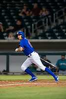 AZL Cubs center fielder Jose Gutierrez (91) at bat against the AZL Mariners on August 4, 2017 at Sloan Park in Mesa, Arizona. AZL Cubs defeated the AZL Mariners 5-3. (Zachary Lucy/Four Seam Images)