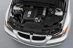 High angle engine detail of a 2005 - 2008 BMW 3-Series 328i Wagon.