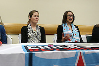 INDIANAPOLIS, IN - January 18, 2013: Chicago Red Stars technical staff. The National Women's Soccer League held its college draft at the Indiana Convention Center in Indianapolis, Indiana during the NSCAA Annual Convention.