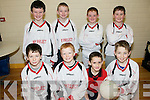 Community Games Indoor Soccer U13's: Taking part in the indoor soccer U13's  qualifiers at St Senan's Sports Hall, Mountcoal, Listowel on Sunday were  the .team representing Boherbui/ Clogher front Eoin Sugrue, Diarmuid Murphy, Mark Ryle & James Roche. Back: Shane Doyle, Owen Breen, Gerald Tobin & Daniel Johnston.