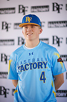 Zachary Farris (4) of Kaneland High School in Dekalb, Illinois during the Baseball Factory All-America Pre-Season Tournament, powered by Under Armour, on January 12, 2018 at Sloan Park Complex in Mesa, Arizona.  (Zachary Lucy/Four Seam Images)