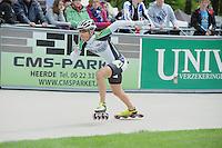 INLINE-SKATEN: HEERDE: Skeeler- en Skatecentrum Hoornscheveen, Europa Cup/Univé Skate Off, 05-05-2012, Wim Dillen (#4), ©foto Martin de Jong