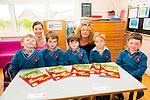 The juniors who started school in Scoil Mhichíl Ballinskelligs on Tuesday were front l-r; Peadar Ó Murchú, Noah Ó Conaill, Siún Ní Shiochrú, Séamus an tSionnaigh and Faolán Ó Moráin with teachers back l-r; Síle Uí Shiochrú & Tríona Ní Chofaigh.