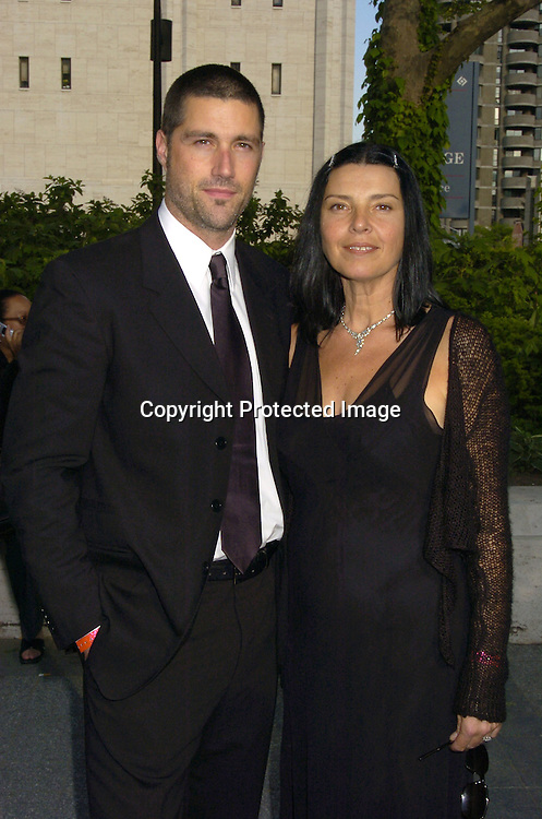 Matthew Fox of Lost and wife Margarita ..at The ABC Upfront Announcement of Their Fall Schedule on May 17, 2005 at Lincoln Center...Photo by Robin Platzer, Twin Images