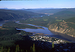View of Youkon River and Dawson City